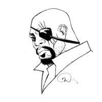 Inktober Nick Fury by mmacklin