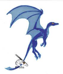 blue sharpies by asha-dragon
