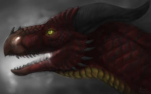 Dragon Profile Speedpaint by Scaleeth