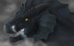 Dragon Profile Speedpaint 02 by Scaleeth