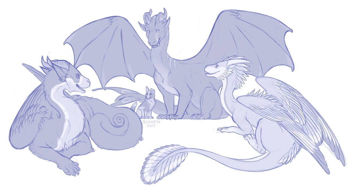 [Commission] Rathios and Friends by Scaleeth
