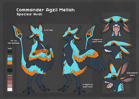 [C] Commander Agzil Mellah Reference Sheet by Scaleeth