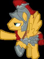 Orange Pegasus Stallion named Flash by FrownFactory