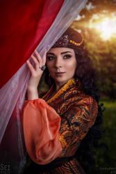 Queen of Shemakha -Tale of the Golden Cockerel III by scentless-flower