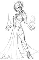 Tiera, human warlock by Coyotzin