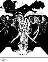 Greek Myths-Troy-Iphigenia's Sacrifice by Coyotzin
