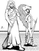 Greek Myths-Hercules and Omphale by Coyotzin