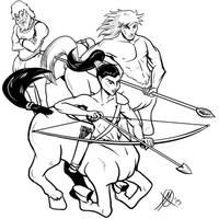 Greek Myths - Centaurs by Coyotzin