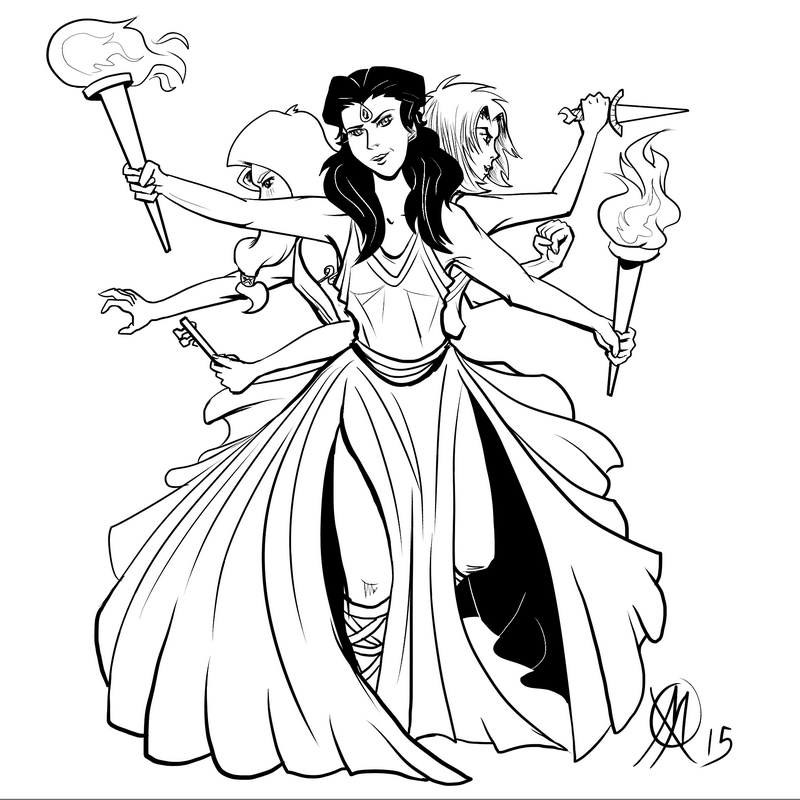 How To Draw Greek Goddess Hecate Free Download Oasis Dl Co