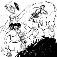Greek Myths-Giants by Coyotzin