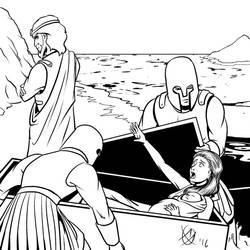 Greek Myths - Perseus - Danae by Coyotzin