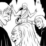 Greek Myths - Perseus - Perseus and the Crones by Coyotzin
