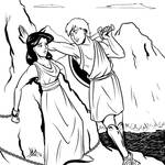 Greek Myths - Perseus - Perseus and Andromeda by Coyotzin
