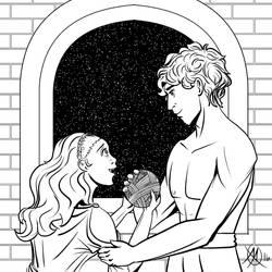 Greek Myths - Theseus - Theseus and Ariadne by Coyotzin