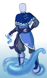 Water warrior - Outfit Comission by Flame-Bloom