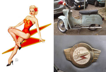 Kleine Schwalbe Scooter Pin-up by seanearley