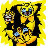 bumblebee kirbys by leonken1