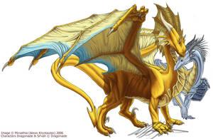 Dragoniade and Sil'vah by Mirsathia