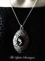 Gothic necklace 'Jusa' sopor aeternus by TheSpiderStratagem
