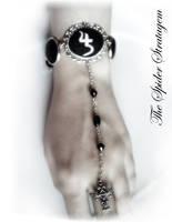 Gothic victorian ring+bracelet 'sopor aeternus' by TheSpiderStratagem