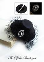 Gothic hat hair clip 'Jusa' sopor aeternus by TheSpiderStratagem