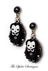 Gothic victorian earrings 'Wednesday Addams' goth by TheSpiderStratagem
