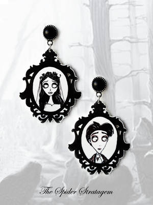 Gothic victorian earrings 'Corpse bride' by TheSpiderStratagem