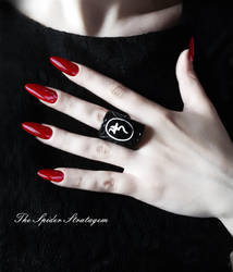 Gothic victorian ring 'Jusa' by TheSpiderStratagem
