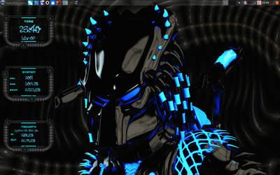 Predator Blue_With Conky by speedracker