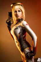 D.Va Suit Mercy Overwatch Cosplay by EroticNeko