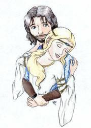 Faramir and Eowyn by Aiya-Evenstar