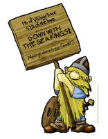 Viking Protestor by Callego