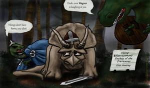 Cretaceous Vikings by Callego
