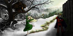Idunn and Loki: Midwinter Meander by Callego