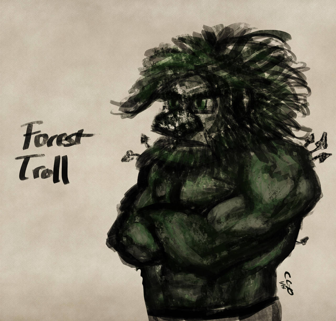 Forest Troll Sketch by Callego