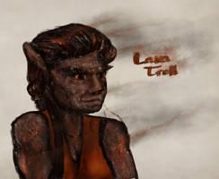 Lava Troll Sketch by Callego