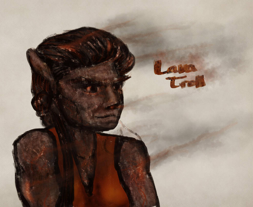 Lava Troll Sketch by Callego