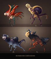 Auction: Mushroom Companions [CLOSED] by Ket-DawnAtSunset