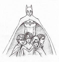 Batman and his Robins by Sjostrand