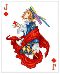 Jack of Diamonds - colour by Sjostrand