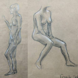 Live model drawing by fserb