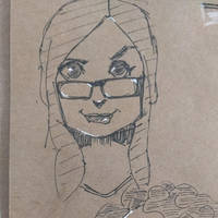 Cute girl drawing by fserb