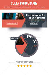 Slider photography for web promotion PSD by artgh