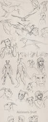 December 14 sketchdump by Sythgara