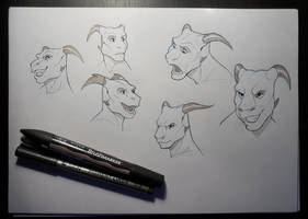 Inktober faces by Sythgara
