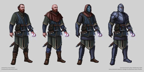Another Elder Scrolls Character for Ryan by MeMyMine
