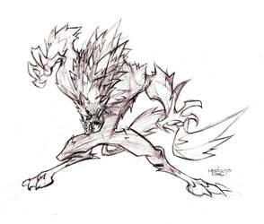 werewolf by MarioPons