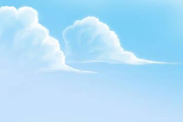 Sky, Clouds drawing practice by gabriev82