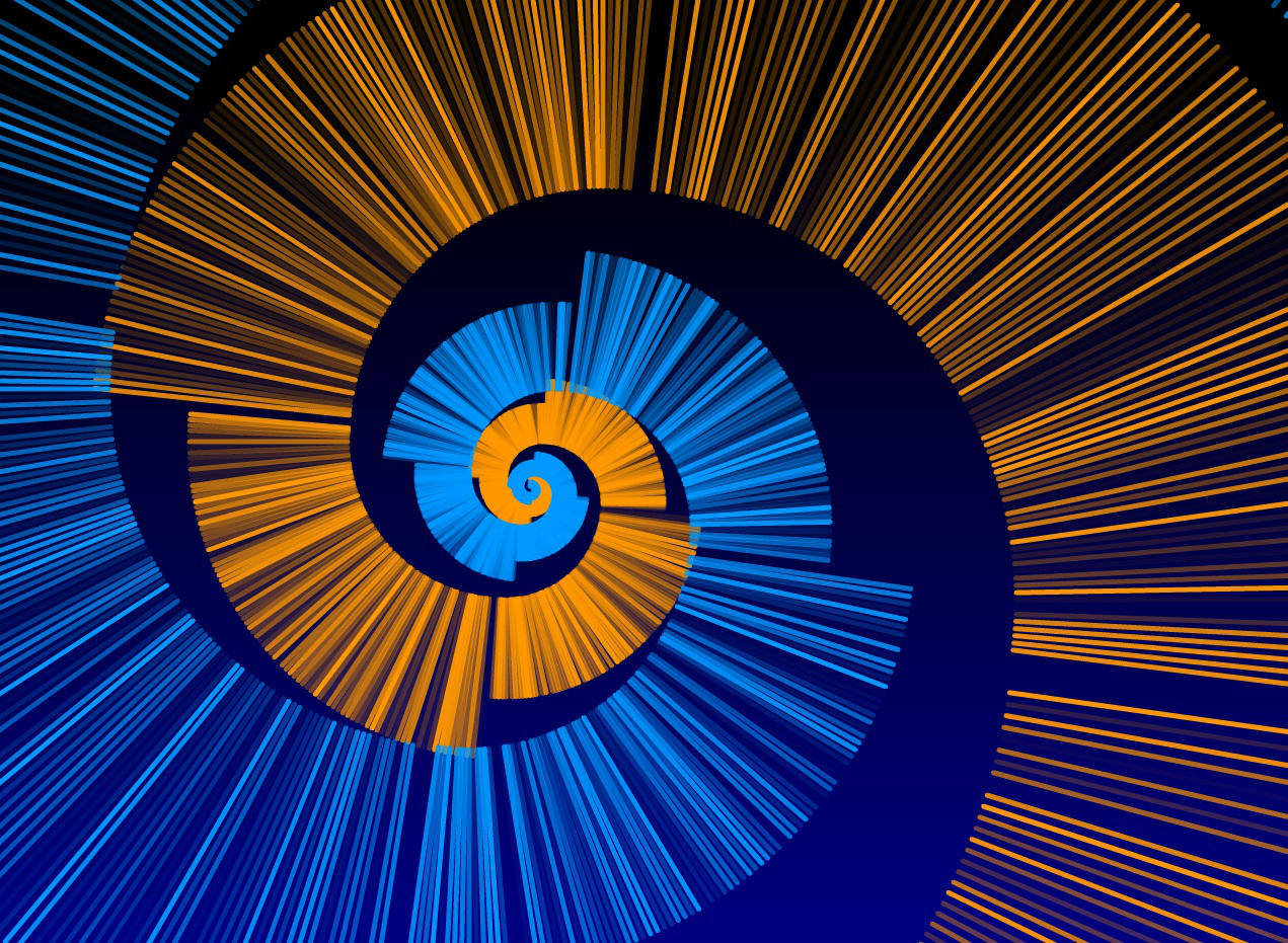 Fibonacci Spiral - Flash Art by Rahzizzle