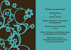 Invitation for a Wedding by valkyrjan
